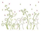 Färg blommönster — Stockvektor