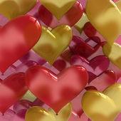 Heart shaped love balloons — Stock Photo