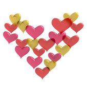 Heart shaped balloons — Stock Photo