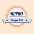 Vintage badge - Stock Vector