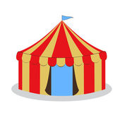 Drawing circus tent — Stock Vector