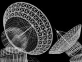Satellite dish — Stockfoto