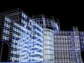 3d modern abstract modern building — Stock Photo