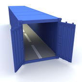 Open cargo container — Stock Photo