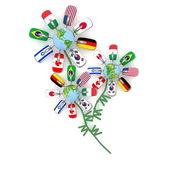 Nietypowy bukiet od kwiaty internet — Zdjęcie stockowe