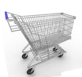 Empty shopping cart isolated on white background — Zdjęcie stockowe