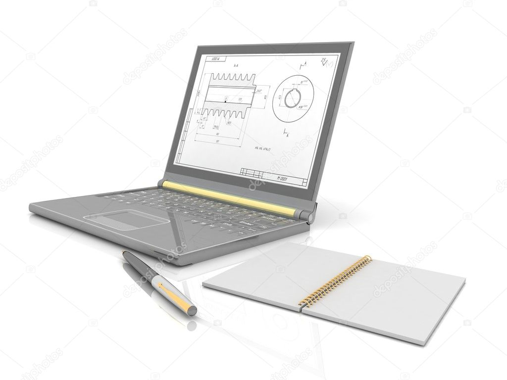 Laptop isolated on white — Stock Photo #10174408