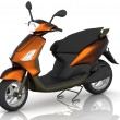 3d model scooter — Stock Photo #10330430