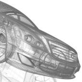 Car model on white background — Stock Photo