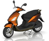 3d model scooter — Stock Photo