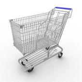 Empty shopping cart — Стоковое фото