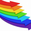 Arrows of color of rainbow — Stock Photo #8365010