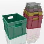 Plastic containers — Stock Photo