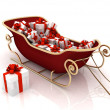 Christmas Santa sledge with gifts — Foto Stock