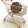 Royalty-Free Stock Photo: Shopping cart full with christmas ball