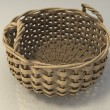 Empty wicker basket — Stock Photo
