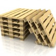 Wooden pallets — Stock Photo