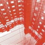 近代建築の抽象的な背景 — ストック写真
