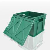 Open plastic container — Stock Photo