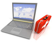 Laptops Diagnose — Stockfoto