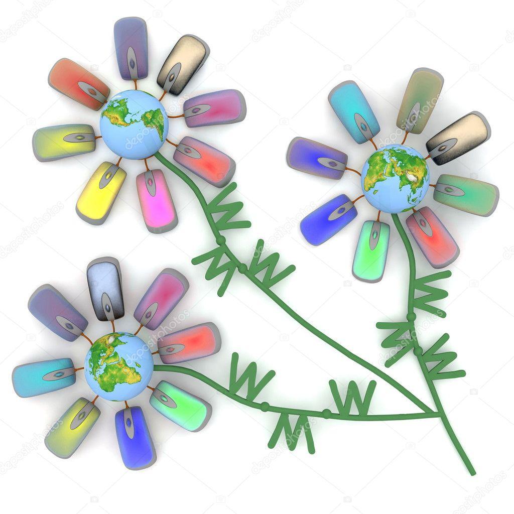 Insolite bouquet des fleurs internet photographie 3ddock for Bouquet internet