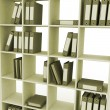 Office bookshelf with folders — Stock Photo