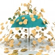 Rain from chinks - Stock Photo