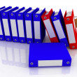 Folders and folder with secret — Stock Photo #8378925