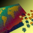 Puzzle map of the world — Stock Photo #8379071