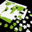 Puzzle map of the world — Stock Photo
