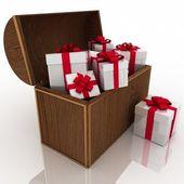 Otwórz skarb z pudełka — Zdjęcie stockowe