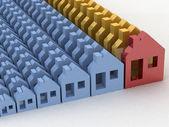 3d 渲染房地产概念 — 图库照片