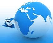 Cruise round the world — Stock Photo