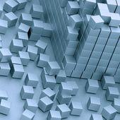 поврежден, монтаж блоков — Стоковое фото
