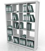 Office bookshelf with folders — Stock Photo
