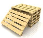 Palety drewniane — Zdjęcie stockowe