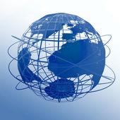Globe art — Stock Photo