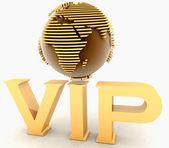 Gold VIP globe europe — Stock Photo