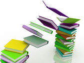 Colored books in pile — Stock Photo