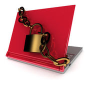 Notebook security — Stock Photo