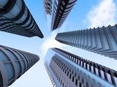Skyscraper office buildings — Stock Photo