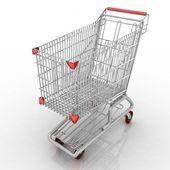 Carrito de compras vacío — Foto de Stock
