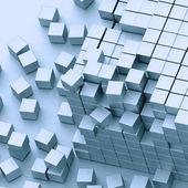 Damaged assembling of blocks — Stock Photo