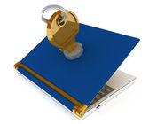 Dizüstü bilgisayar kilitlenebilir — Stok fotoğraf