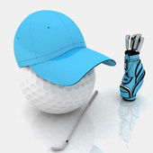 Belonging for playing golf — Stock Photo