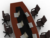 Mesa de negociações — Foto Stock