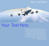 Picture of airplane — Stock Photo