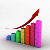 Simple business chart — Stock Photo