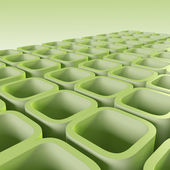 Green blocks — Stock Photo