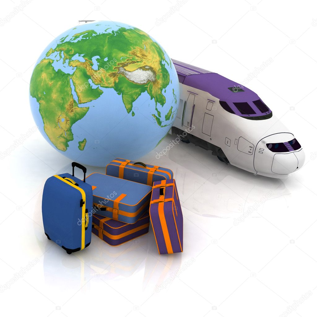 Luggage, for the protracted journey on a train — Stock Photo #8378990